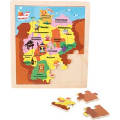 puzzle cadre carte du monde achat vente small foot 4240. Black Bedroom Furniture Sets. Home Design Ideas