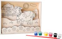 """Image à colorier en bois """"Vache"""""""