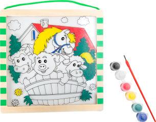 """Image à colorier en bois """"Ferme"""""""