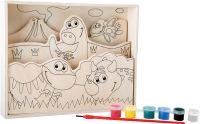 """Image à colorier en bois """"Mes premiers dinos"""""""