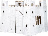 """Maison de jeu en carton à colorier """"Chateau-fort"""""""