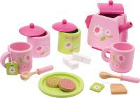Service à thé pour enfants avec motif à fleurs