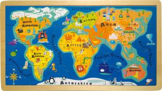 Puzzle Cadre Carte du monde