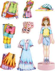 """Madeleine"" à habiller avec aimants"