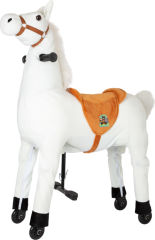 Cheval blanc à monter