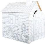 """Maison de jeu à colorier en carton """"Cabane"""""""