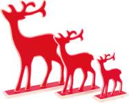 Elans de décoration, rouge