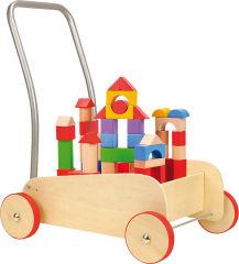 """Chariot de marche avec frein """"Cubes de construction"""""""