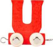 Train de lettres en couleur U