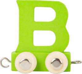 Train de lettres en couleur B