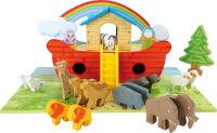 Arche de Noé en bois, ensemble de jeu