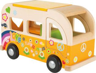 Bus de jeu en bois Hippie
