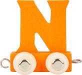 Train de lettres en couleur N