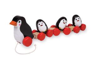 Jouet à tirer Famille de pingouins