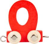 Train de lettres en couleur O