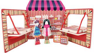 Stand de marchande de bonbons