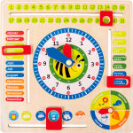 Tableau éducatif Date, heure et saisons, en allemand