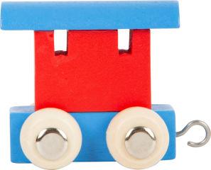 Train de lettres Wagon, rouge & bleu
