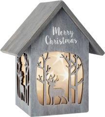 Maison lumineuse Merry Christmas, «Shabby Chic»