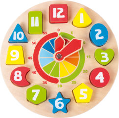 Horloge éducative Formes