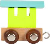 """Train de lettres """"Wagon"""", coloré"""