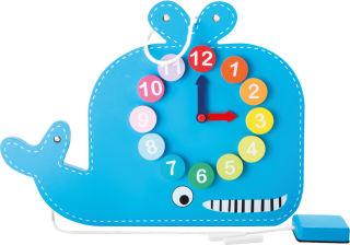 Horloge éducative et tableau Baleine