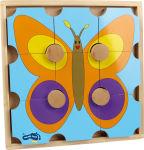 Puzzle en bois ours et papillon