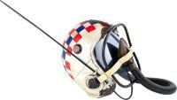 Heaume de pilote blanc style vintage