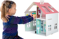 Maison de poupée en carton à coller
