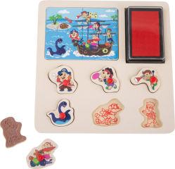 """Tampons et puzzle """"Héros"""""""