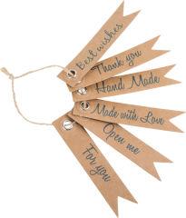 Etiquettes cadeau Messages