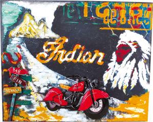 Tableau moto style vintage