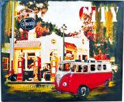 Tableau bus hippie style vintage