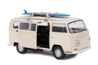 """Voiture miniature """"VW Bus T2 + planche à voile"""""""
