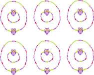 """Set de recharge Bijoux """"chouette"""", violet"""