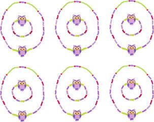 Bijoux chouette, violet
