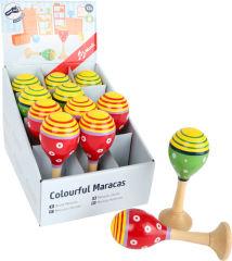 Présentoir Maracas colorés