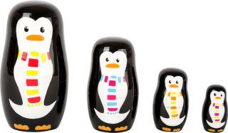 Poupées russes Famille de pingouins