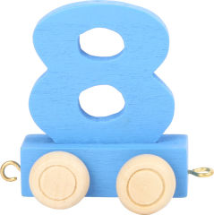 Train de chiffres coloré 8