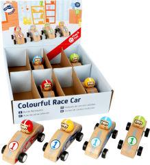 Présentoir Voitures de courses colorées à remonter