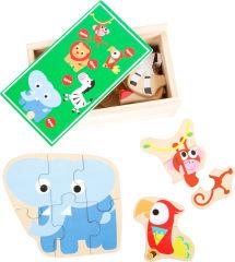 """Boîte de puzzle """"Animaux du zoo"""""""
