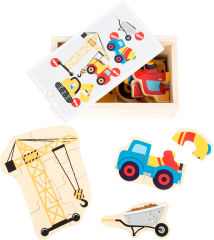 Boîte de puzzle Le monde du chantier