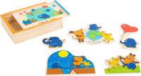 """Boîte de puzzle avec l'éléphant """"Die Maus"""""""