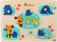 """Puzzle à poser avec l'éléphant """"Die Maus"""""""