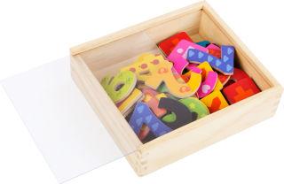 Chiffres magnétiques colorés