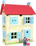 Maison de poupée avec toit amovible