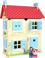 Maison de poupées avec toit amovible