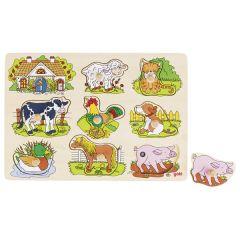 Puzzle à encastrements sonore, animaux de la ferme