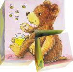 Puzzle de cubes bébés animaux