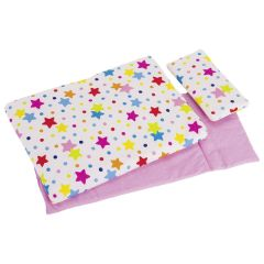 Linge de lit pour poupées, étoiles